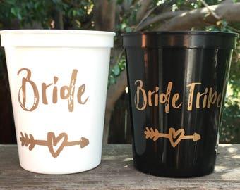 Bachelorette Party Cups | Bachelorette Party Favor | Bride Tribe Cups, Reusable Cups, Bachelorette Cups, 16 Oz Stadium Cup, Bride Cup, Favor