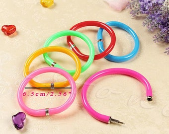 X 1 yellow rubber pen kawaii Bracelet
