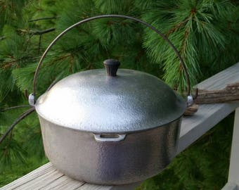 Hammercraft Aluminum Dutch Oven Hammered Aluminum by The Club