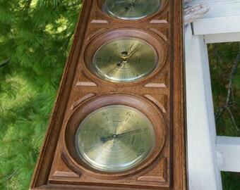 Springfield 3 Gauge Weather Station Vintage Wall Decor