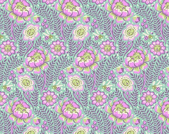 1/2 Yard - Spirit Animal - Petal Heads - Lunar - Tula Pink - FreeSpirit - Fabric Yardage - PWTP103.LUNAR