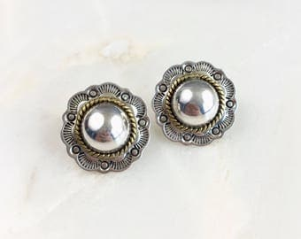 Vintage Sterling Mexican Studs