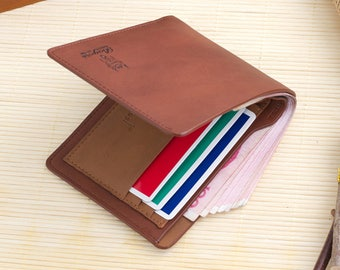 Fashionable Coin Purses Mens Faux Leather Vegan Bifold Wallet Credit/ID Card Holder Slim Coin Purse - Free Shipping