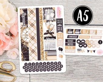 January A5 SMC Monthly Kit || Planner Stickers