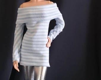 Tops for Barbie,Muse barbie,Tall barbie, FR, Silkstone -No. 0055