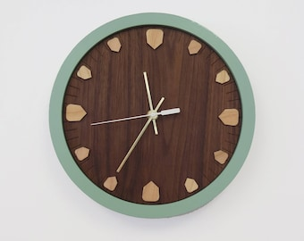 Wood Clock - Handmade Clock - Wood Wall Clock - Modern Clock - Mid Century Inspired