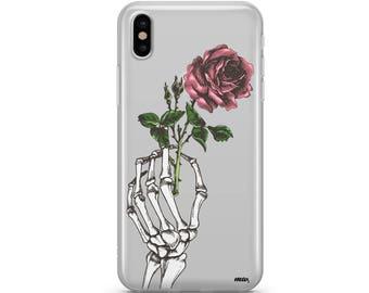 iPhone X  Crane Rose - Clear Tpu Case Cover