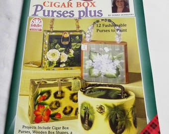 One Stroke, Cigar Box Purses Plus, by Donna Dewberry, Decorative Painting 9806, FAST-n-FREE US Shipping, BC3