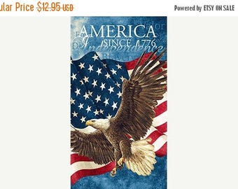 """Anniversary Sale Stars N Stripes Eagle~Panel~24"""" x 44"""" ~ by Northcott~ Cotton Fabric~ Fast Shipping N426"""
