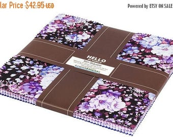 """Anniversary Sale Coventry Spring~Cotton Fabric, Floral, Layer Cake 10"""" squares by Robert Kaufman, Fast Shipping, LC190"""