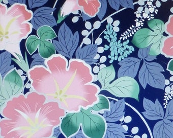 Summer Sale- Shiki~Pink Asian Flowers~Cotton Fabric, Quilt,~Floral,by Quilt Gate~Fast Shipping F592