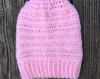 Beanie in Pink // Willow Beanie // Ready To Ship