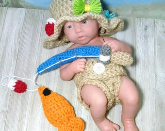 Baby fishing outfit etsy for Baby fishing outfit