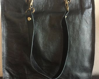 Beautiful 100% leather tote bag