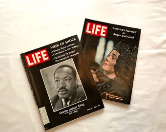 Martin Luther King On Life Magazine, MLK Shot Dead, Coretta Scott King On Life Magazine