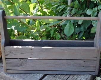 Rustic Decor Table Decor Wooden Box Planter Box Caddy Primitive Country Decor HD004