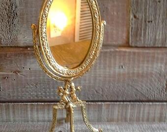 Vintage Cherub Mirror