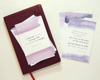 12 Scripture cards, Bible verse cards, Scripture prints, scripture memory for mom, Christian gifts