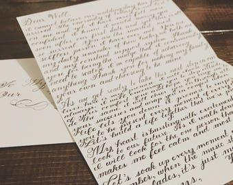 Custom calligraphy love letter | Etsy