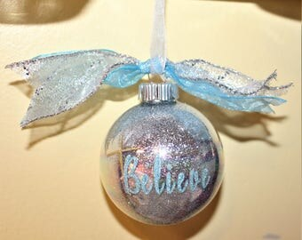 Believe Glitter Ornament