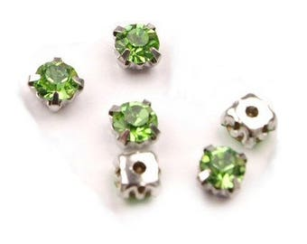 10 crystals set 5 mm light green