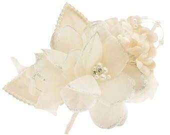 Ivory satin flowers
