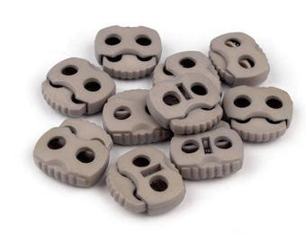 4 stop stop cord 20 mm taupe Brown plastic