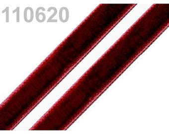 5 m of 9 mm Burgundy velvet Ribbon