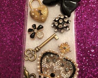 Vintage Gold and Black Bling Phone Case