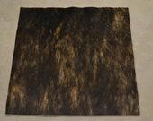 "Dark Brindle Leather Hair on Cow Hide 12"" x 12"" Pre-cut-1 CA-67454 (Sec. 1,Shelf 5,C)"