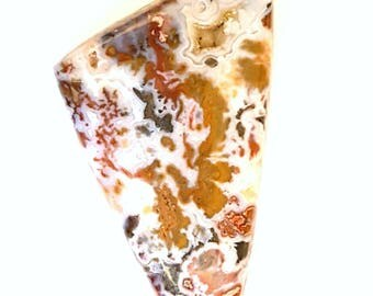 Wingate Pass / Death Valley Plume Agate Cabochon