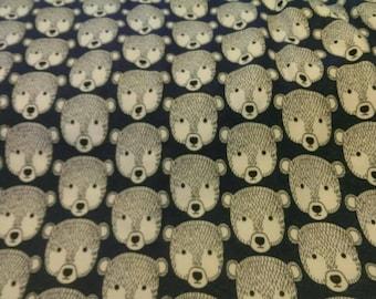 Large cotton poly fleecey woodland bears Bespoke fleecey dog jumpsuit/onesies/pyjamas/coat with organic cotton/hemp cuffs