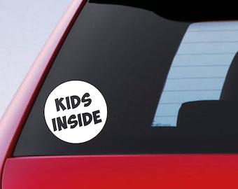 Kids Inside Sticker Car Funny Window Bumper Children Babies On Board Vinyl Decal