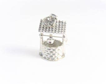 Vintage Sterling Wishing Well Charm