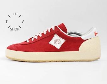 NOS vintage Brutting Bruetting Roadrunner sneakers / Lydiard red suede trainers / Retro Oldschool Shoes Kicks / 80s made in West Germany