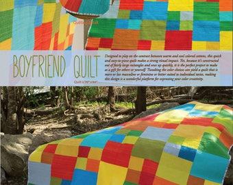 Boyfriend Quilt by A Stitch in Dye