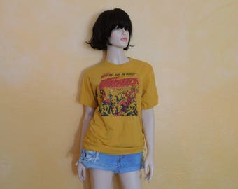 Rare 70s The Mighty Groundhogs Who Will Save The World? T Shirt  ~Cotton~ Adult Medium ~Dimensions Below~