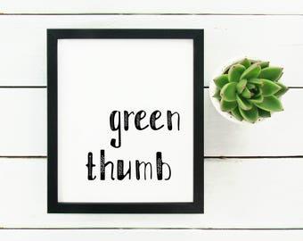 """Green Thumb - 8 x 10"""" print"""