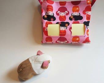 Fun bright hay bag hay sack for guinea pig, rabbit, chinchilla, degu. Guinea pig hay bag hay feeder