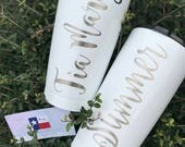 20 oz (Any Design/Any Color) Personilized Stainless Tumbler/Powder Coated Custom Made Stainless w/ Steel Design(s)
