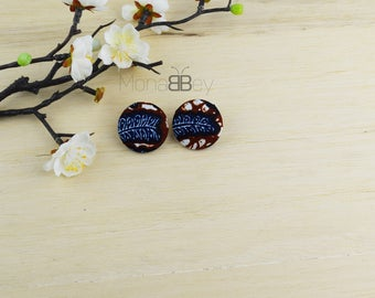 African earrings for women, boucles d'oreilles en tissu africain, boucles d'oreilles wax,cadeau d'anniversaire, birthday gift for her