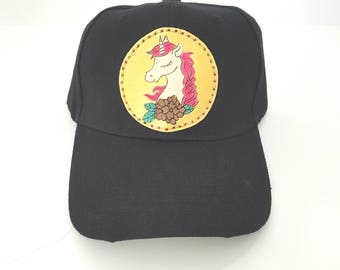 Unicorn ball cap unicorn hat unique hat gift for him gift for her baseball hat festival accessories