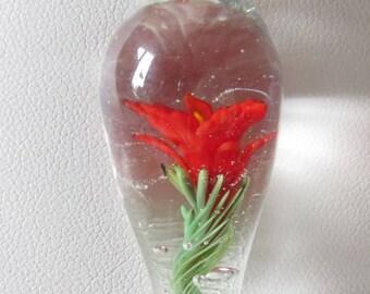 Spun Lampwork Glass Bead