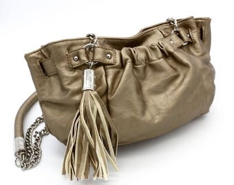 Gold Satchel Handbag