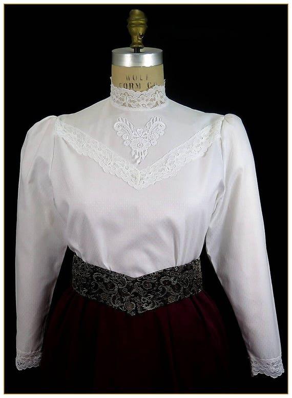 Edwardian Blouses | White & Black Lace Blouses & Sweaters Edwardian Lace Cotton BlouseEdwardian Lace Cotton Blouse $49.00 AT vintagedancer.com