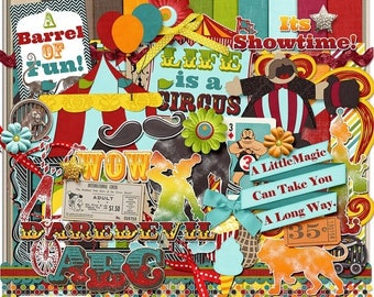 ON SALE NOW 65% off Life Is A Circus Digital Scrapbook Kit