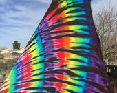 Black Rainbow Tie Dye Maxi Skirt and Strapless Dress