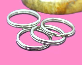 rings double 16mm silver x 100