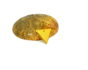 10 copper colored triangle sequins gold 12mm