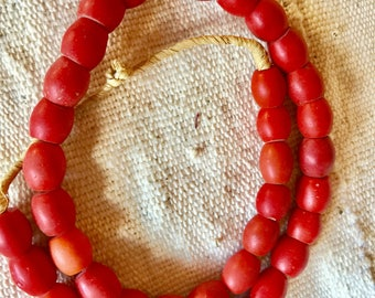 Bohemian antique red trade beads Africa trade beads